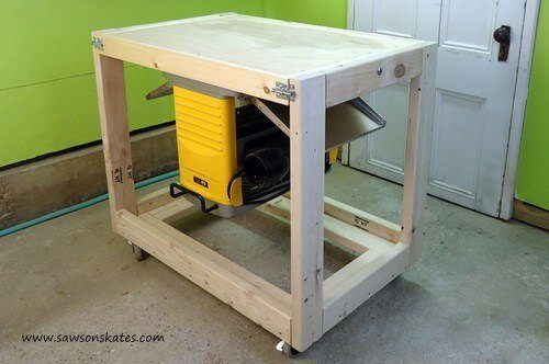 Free DIY Compact Fliptop Workbench Cart Tutorial