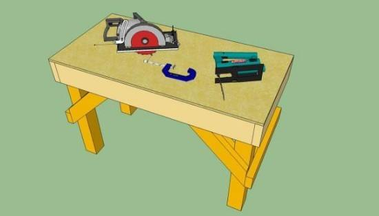 Heavy-Duty Garage Workbench Idea