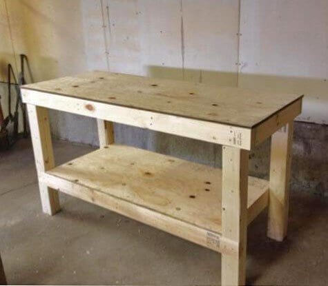 Easy & Affordable DIY Workbench Tutorial
