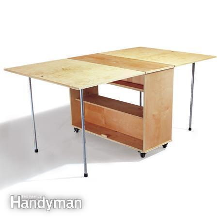 Folding Workbench from Plywood Tutorial
