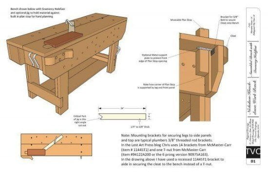 KD Nicholson workbench Plans