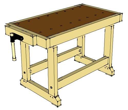 Elegant & Sturdy DIY Workbench Plans