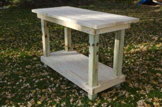 Simple & Sturdy Garage Workbench Plans