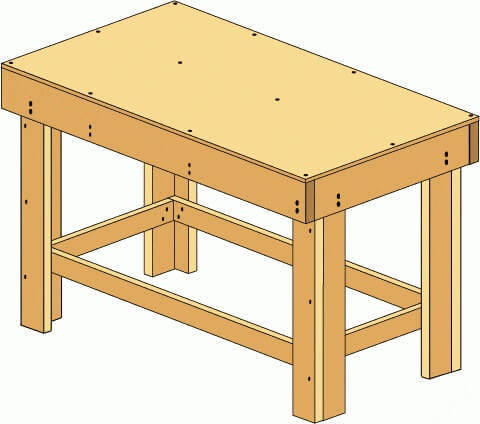 Easy DIY Step by Step Workbench Tutorial