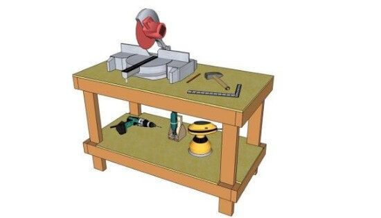Free DIY 2 x 4 Workbench Plans
