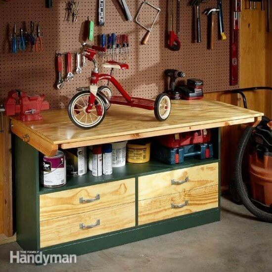 DIY Garage Workbench Tutorial