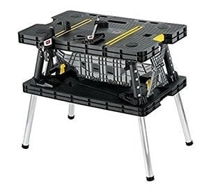 Keter Folding 1000lbs Compact Workbench with Clamps