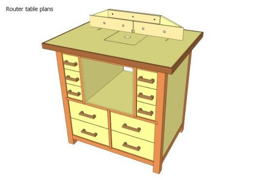 Full Cabinet Body DIY Router Table Plans