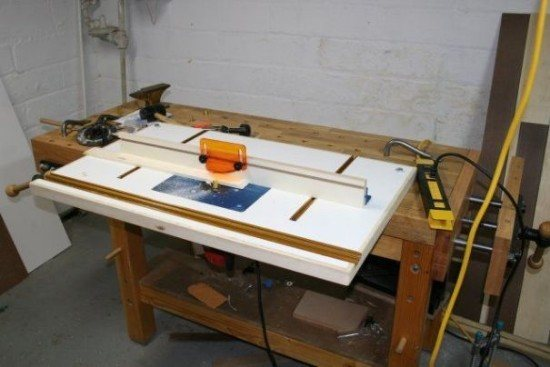 Bench-Mounted DIY Router Table Top Plans