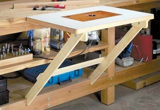 42 free diy router table plans you can build yourself clever free diy fold away router table plans greentooth Image collections