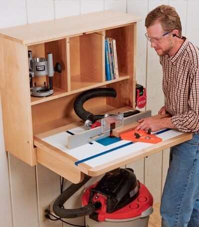 Wall-Mounted Router Table DIY Guide