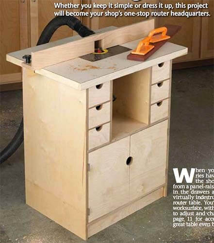 14-Page DIY Router Table Tutorial