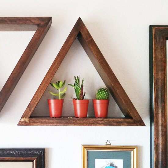 Wooden Triangle Shelves DIY Guide