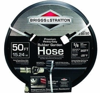 Briggs and Stratton Premium Heavy-Duty Rubber Garden Hose