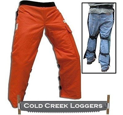 Cold Creek Loggers Chainsaw Apron Safety Chaps with Pocket