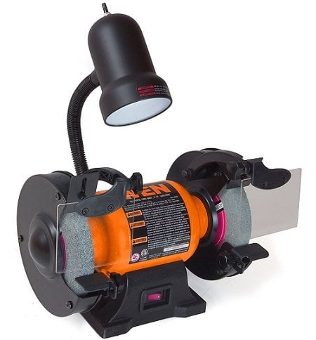 WEN 4276 Bench Grinder with Flexible Work Light